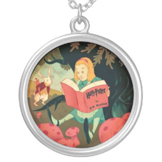 Alice Through the Looking Glass Silver Plated Necklace