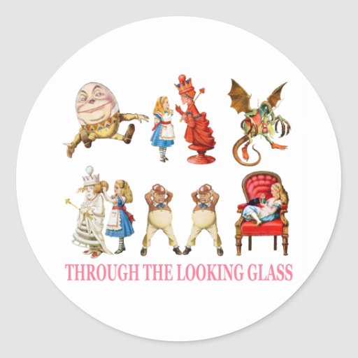 ALICE THROUGH THE LOOKING GLASS STICKER