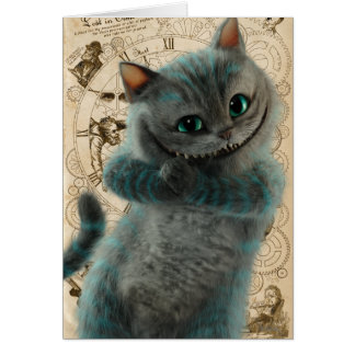 Alice Thru the Looking Glass | Cheshire Cat Grin Card