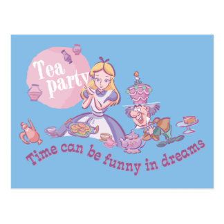 Alice | Time Can Be Funny In Dreams Postcard