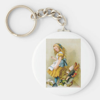 Alice Tips Jury Box at the Knave of Hearts Trial Keychain