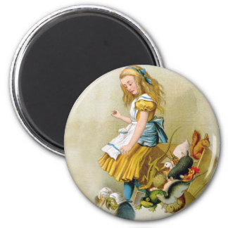 Alice Tips Over Jury Box In Knave of Hearts Trial 2 Inch Round Magnet