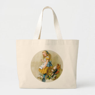 Alice Tips Over Jury Box In Knave of Hearts Trial Large Tote Bag