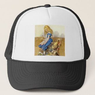 Alice Tips Over the Jury Box Knave of Hearts Trial Trucker Hat