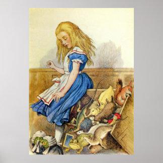Alice Tips the Jury Box in Wonderland Poster