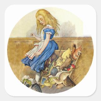 Alice Tips The Jury Box Square Sticker