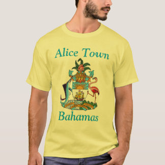 Alice Town, Bahamas with Coat of Arms T-Shirt