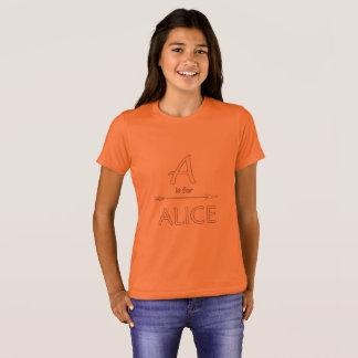 Alice tshirt girls