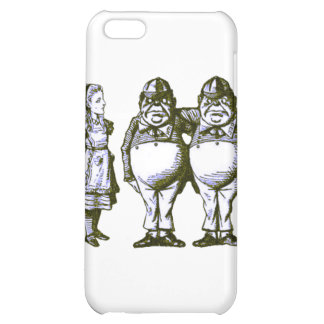 Alice, Tweedle Dee & Tweedle Dum in Blue Tint iPhone 5C Case
