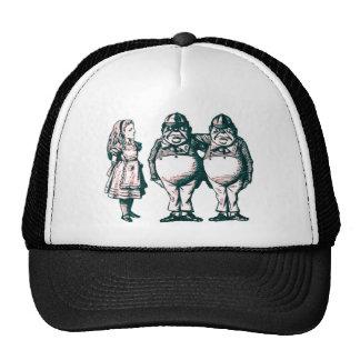 Alice, Tweedle Dee & Tweedle Dum in Pink Tint Trucker Hat