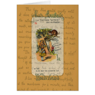 Alice: Twinkle, Twinkle, said the Hatter Card