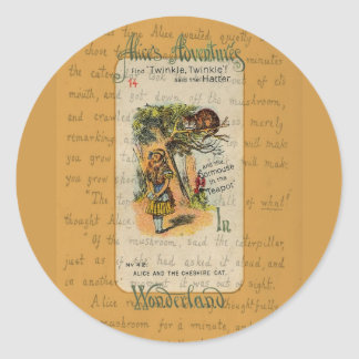 Alice: Twinkle, Twinkle, said the Hatter Classic Round Sticker