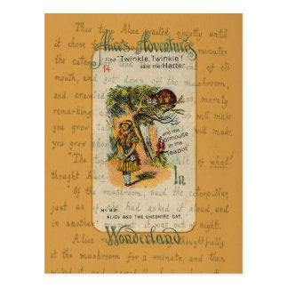 Alice: Twinkle, Twinkle, said the Hatter Postcard