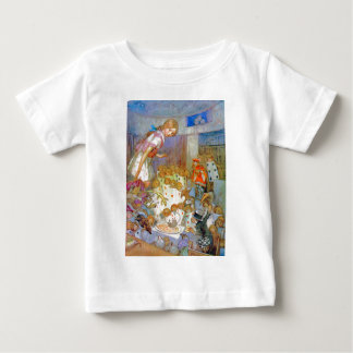Alice Upsets Jury Box at the Knave of Hearts Trial Baby T-Shirt