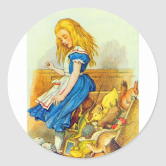 Alice Upsets the Jury Box Color Round Stickers