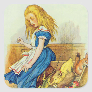 Alice Upsets the Jury-Box Square Sticker
