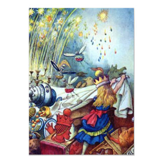 Alice Upsets the Table Full Color 5x7 Paper Invitation Card