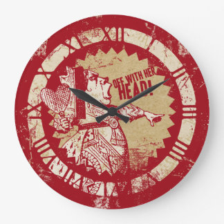 Alice Vintage Red Queen Large Clock