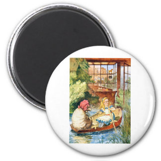 Alice Watched as the Old Woman Turned into a Sheep 2 Inch Round Magnet