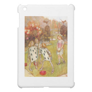 Alice Watches the Cardmen Paint the Queen's Roses iPad Mini Cover