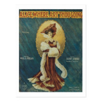 Alice, Where Art Thou Going? Songbook Cover Postcard