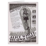 Alice White Broadway Babies movie ad Card