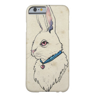 Alice White Rabbit, Bunny Pastel Watercolor Barely There iPhone 6 Case