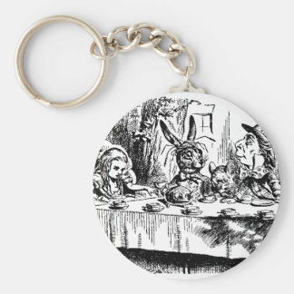 Alice, White Rabbit, Tea Party Keychain