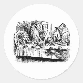 Alice, White Rabbit, Tea Party Stickers
