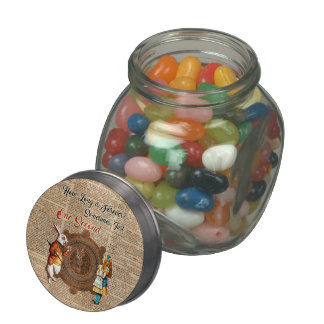 Alice & White Rabbit Vintage Dictionary Art Quote Glass Candy Jars