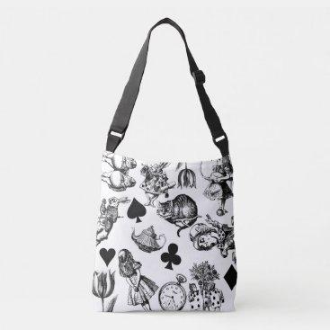 Alice White Rabbit Wonderland Cheshire Cat  Crossbody Bag
