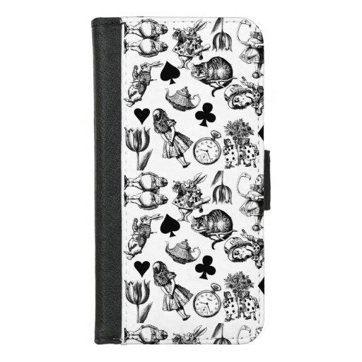 Alice White Rabbit Wonderland Cheshire Cat  iPhone 8/7 Wallet Case