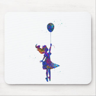 Alice with balloon mouse pad