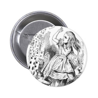 Alice with Cards Pinback Button