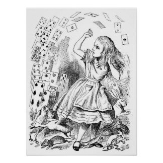 Alice with Cards Posters