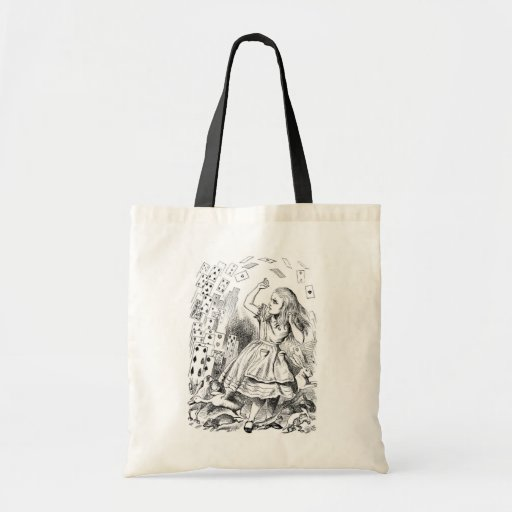 Alice with Cards Tote Bag