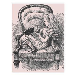 Alice with Dinah Postcard