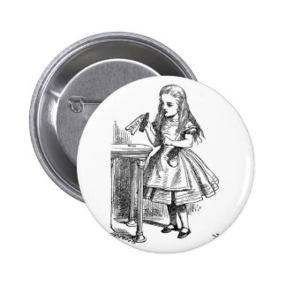 "Alice with ""Drink Me"" Bottle Pinback Buttons"