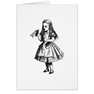 """Alice with """"Drink Me"""" Bottle Card"""