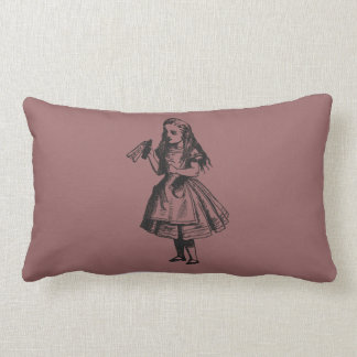 """Alice with """"Drink Me"""" Bottle Throw Pillows"""
