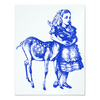 Alice with Fawn Blue Prom Bid Card