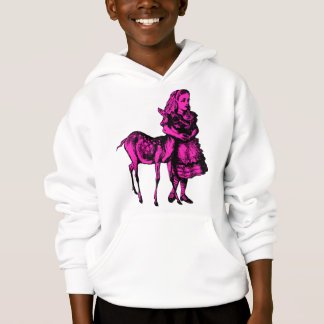 Alice with Fawn Inked Pink Fill Hoodie