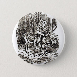 Alice With Fawn Pinback Button