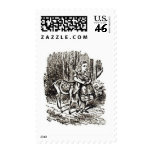 Alice With Fawn Postage Stamps