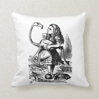 Alice with Flamingo Pillow