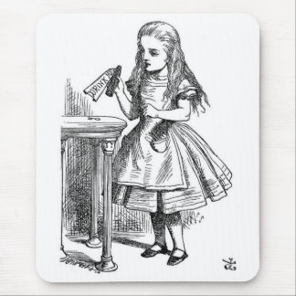 """Alice with the """"Drink Me"""" Bottle Mouse Pad"""