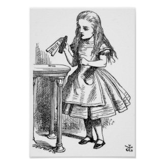 """Alice with the """"Drink Me"""" Bottle Poster"""