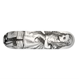 """Alice with the """"Drink Me"""" Bottle Skateboard"""