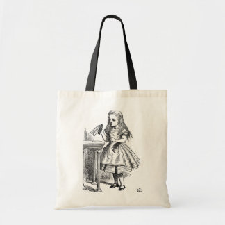 "Alice with the ""Drink Me"" Bottle Tote Bag"