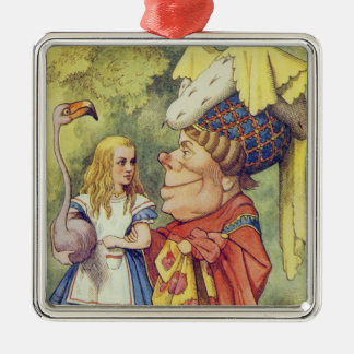 Alice with the Duchess Metal Ornament